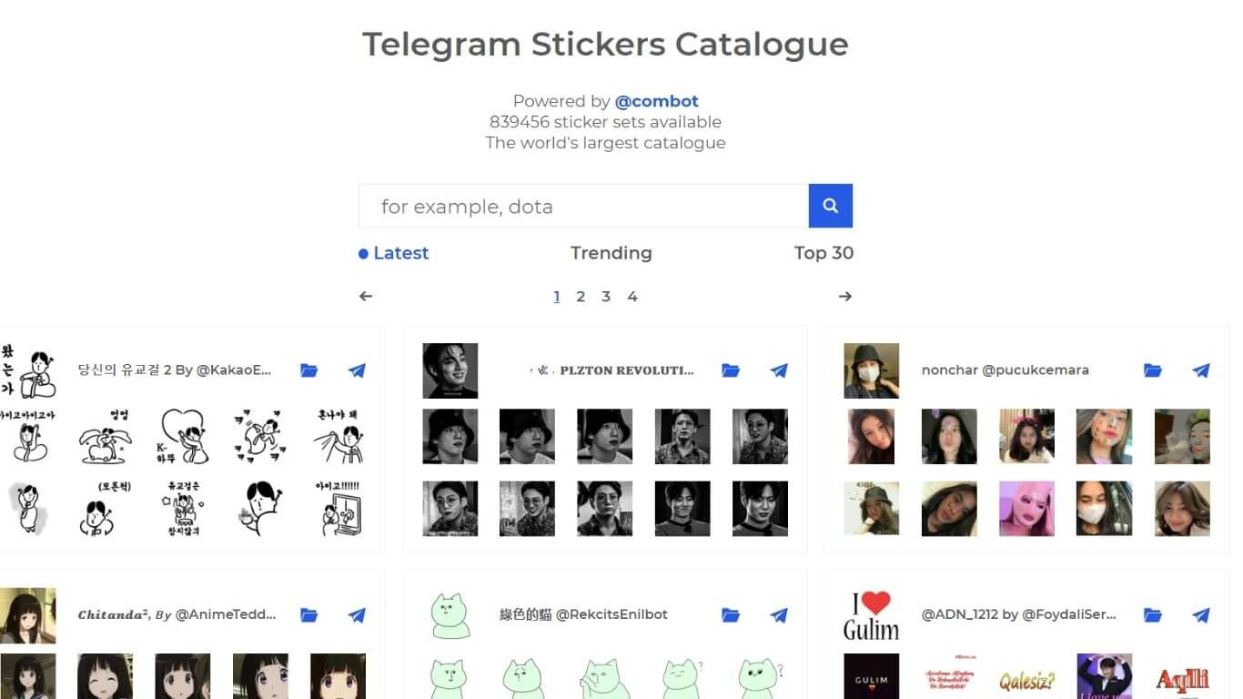 Telegram Sticker Catalogue: Cari Stiker Telegram Disini!